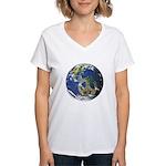 Peace On Earth Women's V-Neck T-Shirt