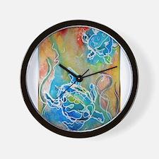 Sea Turtles, wildlife art Wall Clock