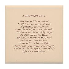 Mother's Love Tile Coaster