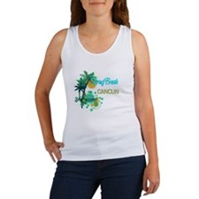 Palm Trees Circles Spring Break CANCUN Tank Top