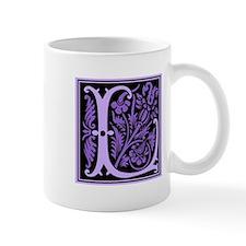 Purple Fleur2 Monogram L Mug