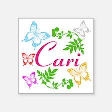 Personalize Name Dancing Butterflies Sticker