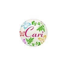 Personalize Name Dancing Butterflies Mini Button