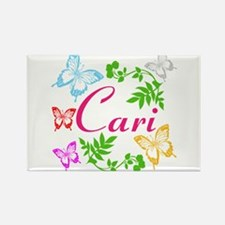 Personalize Name Dancing Butterflies Magnets
