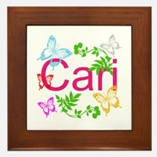 Personalize Name Dancing Butterflies Framed Tile