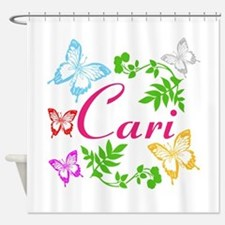 Personalize Name Dancing Butterflies Shower Curtai