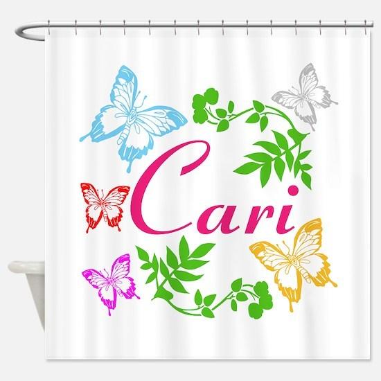 Personalize Name Dancing Butterflies Shower Curtai