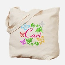 Personalize Name Dancing Butterflies Tote Bag