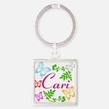 Personalize Name Dancing Butterflies Keychains