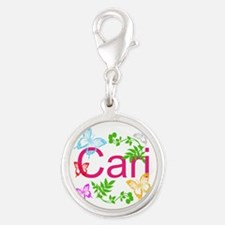 Personalize Name Dancing Butterflies Charms
