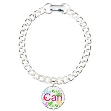 Personalize Name Dancing Butterflies Bracelet