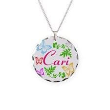 Personalize Name Dancing Butterflies Necklace