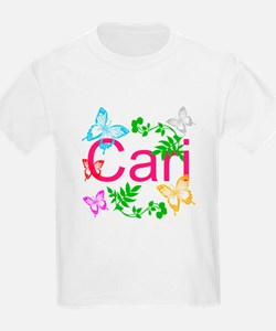 Personalize Name Dancing Butterflies T-Shirt