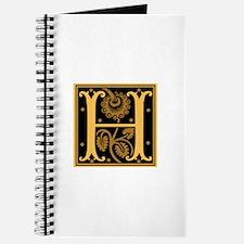 Gold Fleur2 Monogram H Journal