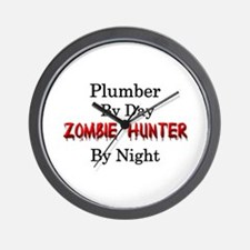 Plumber/Zombie Hunter Wall Clock