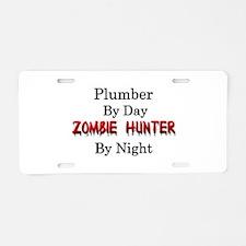 Plumber/Zombie Hunter Aluminum License Plate
