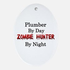 Plumber/Zombie Hunter Ornament (Oval)