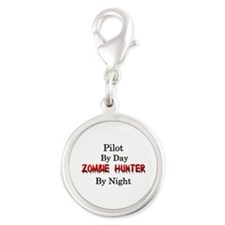 Pilot/Zombie Hunter Silver Round Charm