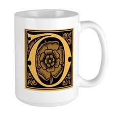 Gold Fleur2 Monogram D Mug