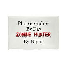 Photographer/Zombie Hun Rectangle Magnet (10 pack)