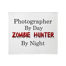 Photographer/Zombie Hunter Throw Blanket