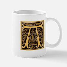 Gold Fleur2 Monogram A Mug