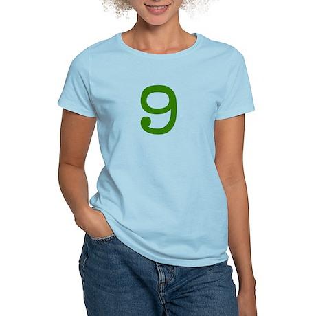GREEN #9 Women's Light T-Shirt