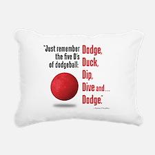 5 Ds of Dodgeball Rectangular Canvas Pillow