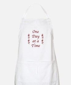 One Day at a Time-Burgundy Floral Accents Apron