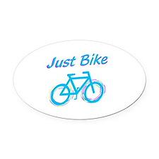 Just Bike Oval Car Magnet