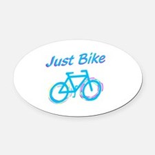 Just Bike Oval Car Magnet