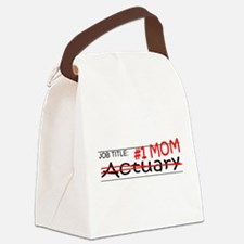 Job Mom Actuary Canvas Lunch Bag