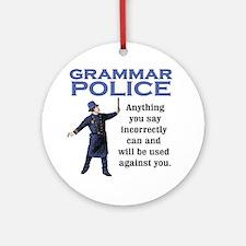 Grammar Police Ornament (Round)