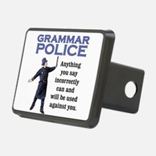 Grammar Police Hitch Cover