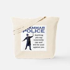 Grammar Police Tote Bag