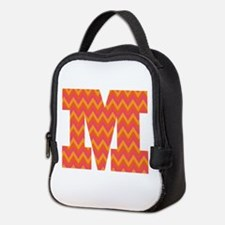 M Monogram Chevron Neoprene Lunch Bag