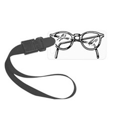 Retro Cat Eye Glasses Luggage Tag