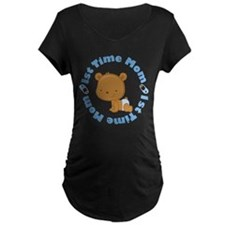 1st Time Mom baby boy Maternity T-Shirt