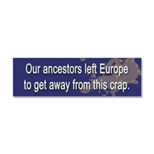 Patriotic Car Magnet 10 x 3