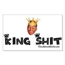 King Shit Rectangle Stickers