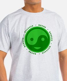 Reduce Reuse Recycle Happy Face T-Shirt
