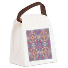 Spring flowers psychedelic burst Canvas Lunch Bag