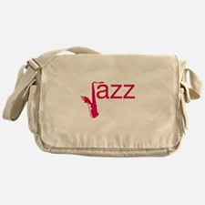 Red Jazz Messenger Bag