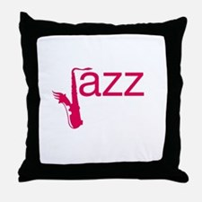 Red Jazz Throw Pillow