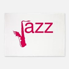 Red Jazz 5'x7'Area Rug