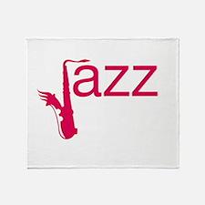 Red Jazz Throw Blanket