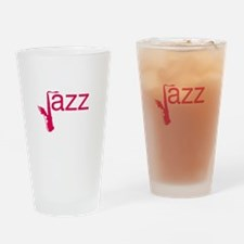 Red Jazz Drinking Glass