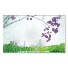 Jacaranda Skyline Decal