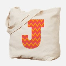 J Monogram Chevron Tote Bag