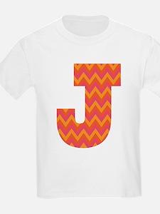 J Monogram Chevron T-Shirt